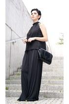 black Zara bag - black Cubus sunglasses - black palazzo H&M pants