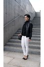 White-h-m-jeans-black-quilted-leather-choies-jacket
