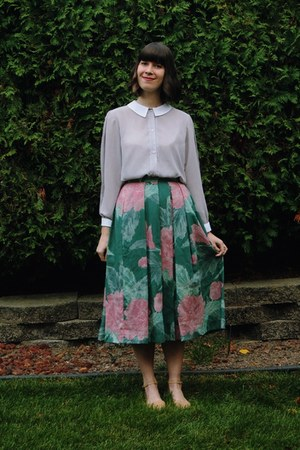 teal Dressed in the Dark Vintage skirt - light pink Fiery Finish Vintage dress