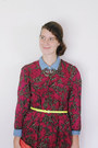 Maroon-floral-bear-and-twine-dress