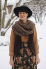 Black-wide-brimmed-urban-outfitters-hat-mustard-knit-h-m-sweater