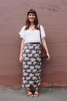 navy palm tree Bear and Twine skirt