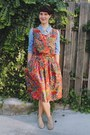 Brick-red-paisley-mousevox-vintage-dress-periwinkle-suede-macys-boots
