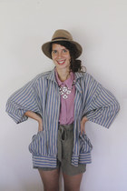 violet striped slouchy Vintage 1980s If I Were a Painter blouse