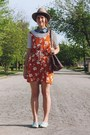 Carrot-orange-floral-august-wrinkle-dress