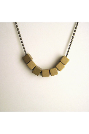 vintage brass metalista jewelry necklace