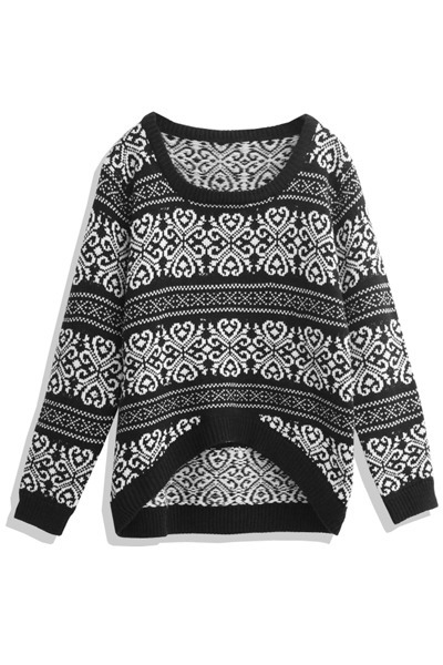 black asymmetrical mexy shop sweater