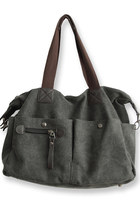 Traveler's Canvas Bag - Dark Gray