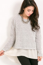 Made in Korea: Sweater with Chiffon Insert