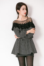 houndstooth mexy shop top
