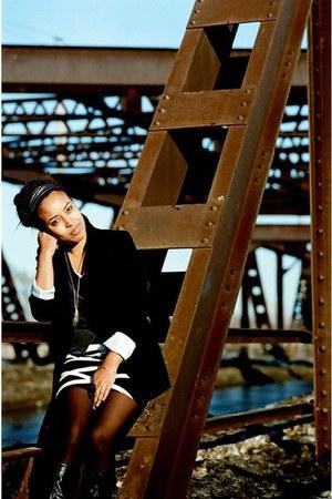 black Target blazer - black Forever 21 skirt - dark gray BB Dakota vest