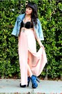 Silver-loveit-necklace-navy-acid-wash-levi-jacket