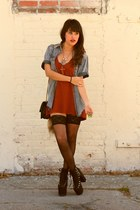 burnt orange knit tank Sparkle & Fade top - heather gray vintage shirt