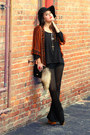 Black-american-gold-pants-tawny-kaityln-cape