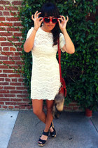 ivory lace dress dress - red Sweetheart Sunglasses sunglasses