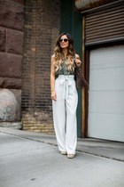 white Nordstrom pants