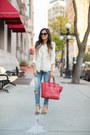 Blue-nordstrom-jeans-ruby-red-celine-bag-ivory-forever-21-vest