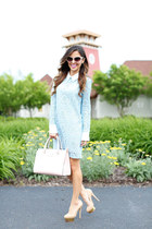 light pink kate spade bag - light blue Shopbop dress