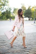 ivory Chicwish dress - light pink kate spade bag
