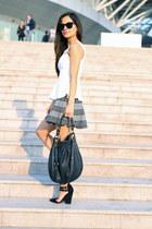 black Marc by Marc Jacobs bag - dark green Forever 21 skirt - white Topshop top