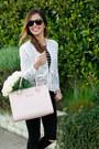 Black-topshop-jeans-ivory-zara-sweater-light-pink-kate-spade-bag
