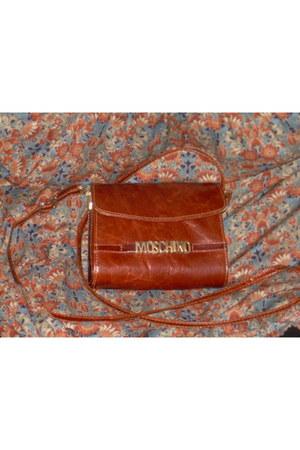 leather bag Moschino bag