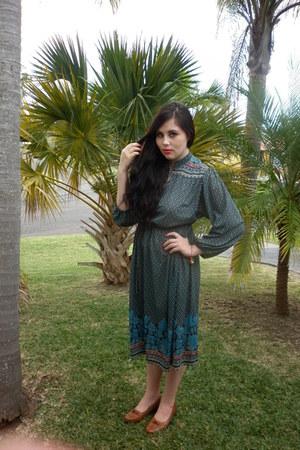 blue-70s 60s vintage dress