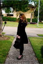black Marc Jacobs coat - black American Apparel leggings - black Michael Kors sh