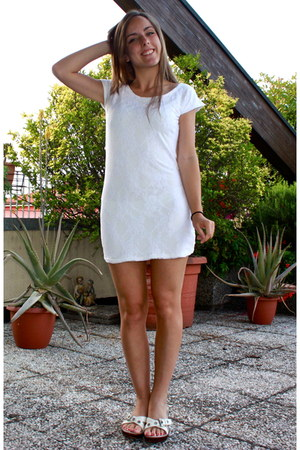 white lace homemade dress