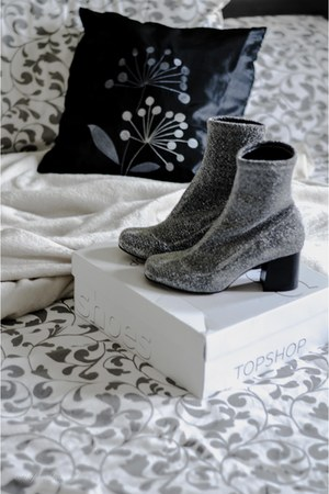 silver Topshop boots
