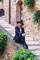 black Choies hat - black Pimkie shoes - black H&M blazer