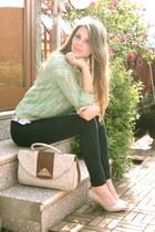 pull&bear cardigan - Bershka jeans - united colors of benetton shirt