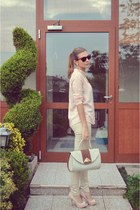 light pink chiffon chicnova shirt - off white vintage bag