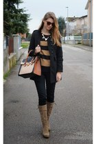black chic Rosewholesale coat - dark brown Nero Giardini boots