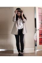 Urban Outfitters coat - Paige Premium jeans - H&M blouse