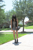 Express vest - Rogan for Target shirt - Ebay shoes - isaac mizrahi purse
