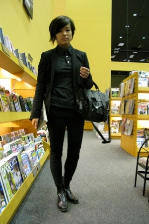 Theory blazer - Prada boots - PROENZA SCHOULER purse