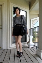 thrifted sweater - American Apparel skirt - calvin klein shoes - PROENZA SCHOULE