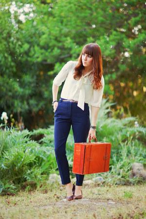 vintage vintage bag - Forever 21 blouse - high waist Forever 21 pants