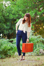 vintage vintage bag - Forever 21 blouse - high waist Forever 21 pants