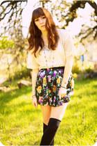 amethyst silk Forever 21 skirt - white lace Forever 21 blouse