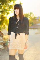 eggshell lace Forever 21 dress - black H&M shirt
