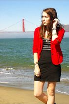 red Mirror Dash blazer - black skirt