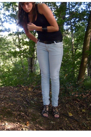 Bershka jeans - Bershka top - New Yorker shoes
