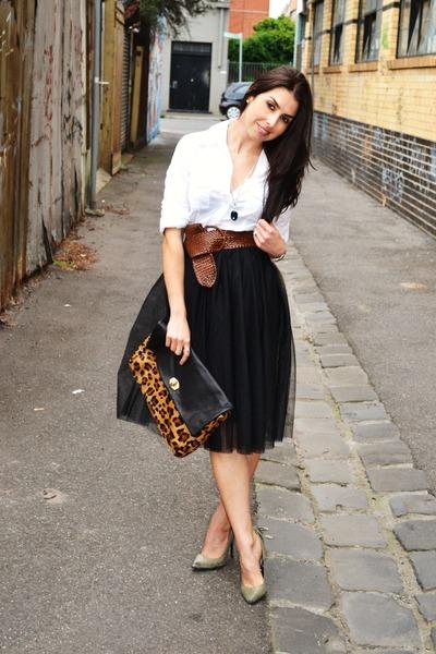 Upskirt falda escolar con mallas blancas - 3 part 10