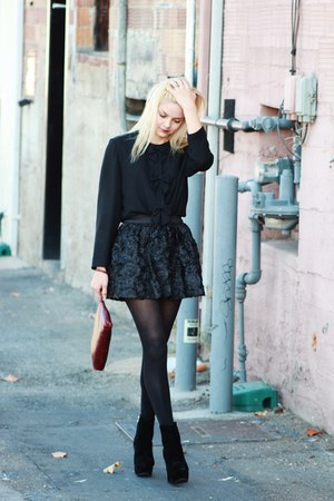 Maggy London blouse - OASAP heels - Forever21 old skirt