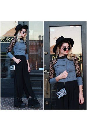 lace sleeves NastyDress shirt - MMS Studio Design bag - Tobi pants
