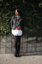 motorcycle f21 jacket - multi-colored vintage sweater - by corpus shirt