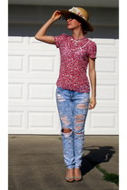 hollister jeans - sheer H&M blouse