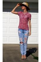 hollister jeans - sheer H&M blouse